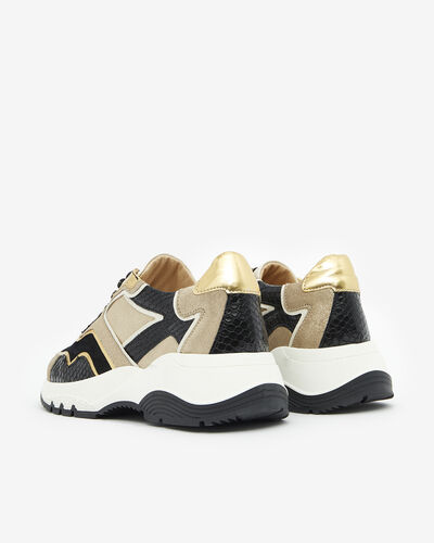SNEAKERS GOLVEN, SAND GOLD