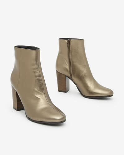 ANKLE BOOTS ABELLE/MET, BRONZE