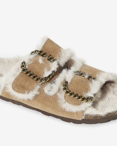 MULES LILY/HOME, CAMEL