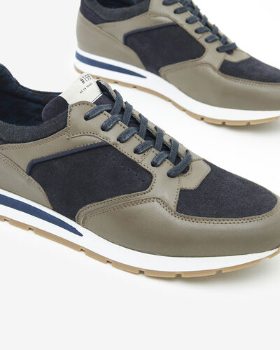 SNEAKERS SOVANZO, TAUPE NAVY BLUE