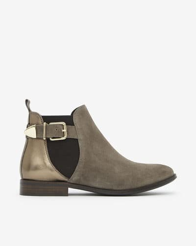 ANKLE BOOTS ANDA, GREY BRONZE