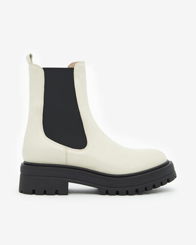 ANKLE BOOTS MARTI, IVORY