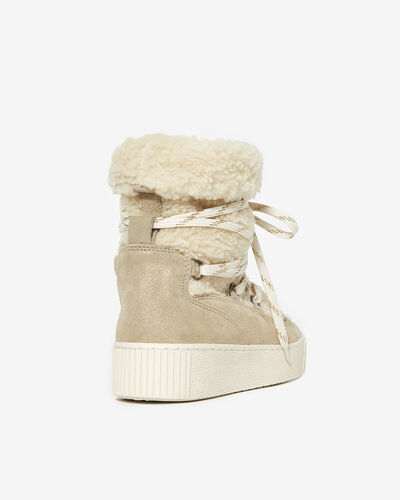 SNEAKER CALESSA, IVORY GOLD