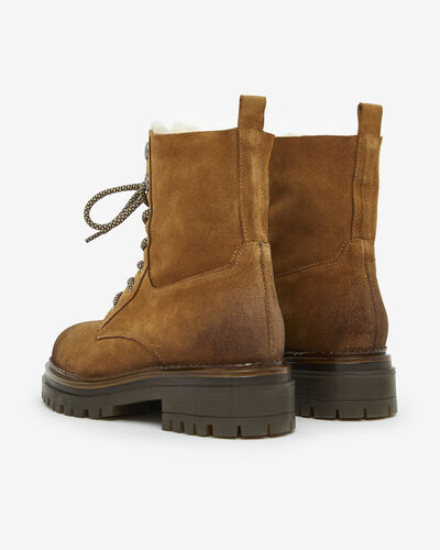 ANKLE BOOTS CLINT, CAMEL