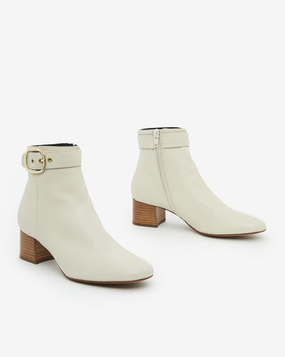 ANKLE BOOTS ADOLIA, IVORY