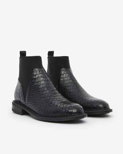 ANKLE BOOTS MESCALY/BOA, BLACK
