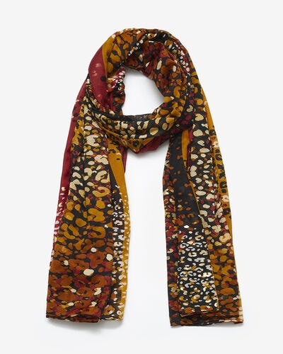 SCARF PALMOSA/LEO, RED MULTI
