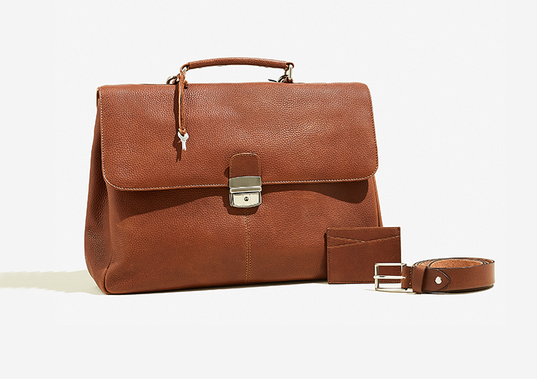 Leather men bags